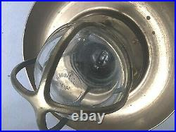 Vintage Ship Engine Room Ceiling Light withBrass Deflector Cover Shade