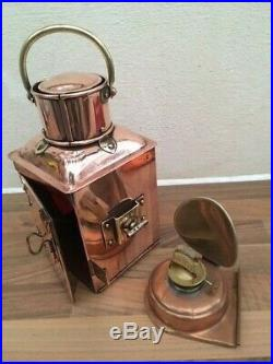 Vintage Ships Port Light. Copper Brass Lantern. Boat Light Yacht Marine Nautical