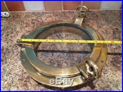 Vintage Ships Porthole 12 Brass. Not Light Marine Boat Yacht Nautical Salvage