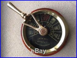 Vintage Ships Telegraph. J. W. Ray Light Brass / Bronze Yecht Marine Nautical