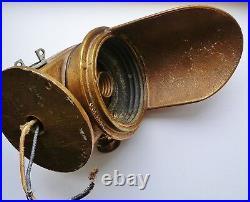 Vintage Solid Brass OCEANIC Ship's Sconce Light