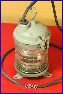 Vintage Soviet Russian Aluminum SHIP BOAT LANTERN LAMP White light Fresnel