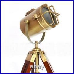 Vintage Spot Light marine nautical Table Lamp Searchlight WithTripod Stand Replica