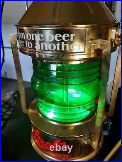 Vintage Stroh's Beer Bar Sign Rotating Motion Lantern Nautical Lamp Light