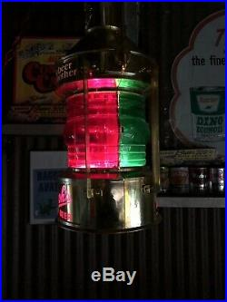 Vintage Stroh's Beer Hanging Motion lamp lighted beer sign Nautical Works