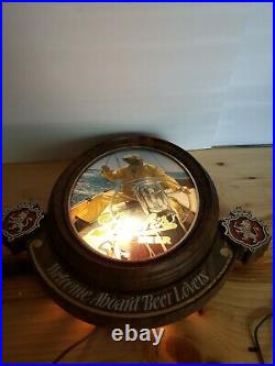 Vintage Stroh's Lighted Beer Sign WELCOME ABOARD BEER LOVERS Nautical