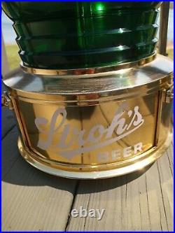 Vintage Strohs Advertising Motion Beer Sign Light Lantern Bar Pub Nautical