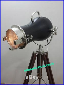 Vintage Studio Industrial Designer Nautical Spot Light Tripod Floor Lamp