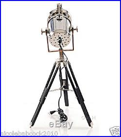 Vintage Style Nautical Alum. Accent Spot Light Floor Lamp