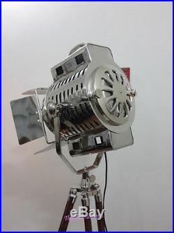 Vintage Style Retro Floor Lamp Tripod Stand Nautical Spot Search Light