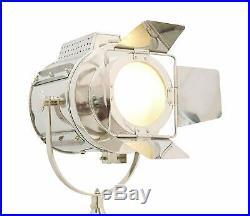 Vintage Tripod Floor Lamp, Nautical Teatre Retro Spotlight, Industrial Decor Light