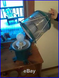 Vintage United States Coast Guard buoy light. New socket and wiring
