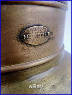 Vintage Vesta Accumulator Brass Ship Spot Search Light Nautical Lamp Collector