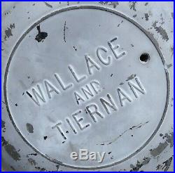 Vintage Wallace & Tiernan Ships Boat Green Light Nautical Maritime