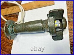 Vintage Wilcox Crittenden Bronze Stern Light Led, Glass Lens Raised Bronze Mount