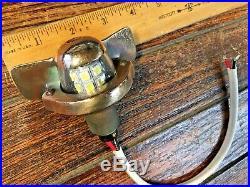 Vintage Wilcox Crittenden Bronze Teardrop Steaming Light, Led Bulb
