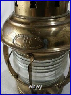 Vintage Wilcox Crittenden Marine Light Electrified Lantern Lamp Nautical Seaman