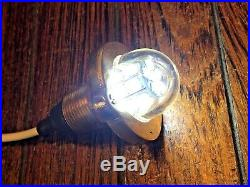 Vintage Wilcox Crittenden Small Bronze 360 Degree Light Re-wired Led Glass Lens