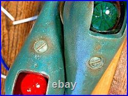 Vintage Wilcox Teardrop Running Lights Glass Lens, New Wiring/leds/seals, Patina