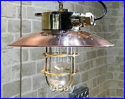 Vintage marine brass & copper nautical ship salvage passage light 100% original