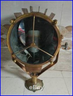Vintage marine brass nautical ship salvage spot light 100% original