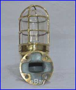 Vintage marine brass ship nautical salvage passage light 100% original 2 piece