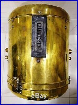 Vintage marine brass ship nautical ship salvage big spot light 100% original