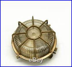 Vintage marine brass ship salvage bulkhead light 1 piece in nice condition