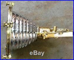 Vintage marine hanging cargo wiska spot light brass and aluminium new 1 piece