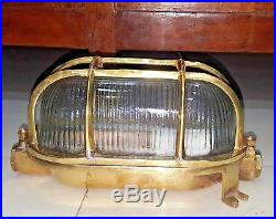 Vintage model new style marine brass passage way bulkhead cover light 2 piece