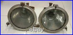 Vintage nautical marine aluminium spot lights set of 2 pieces