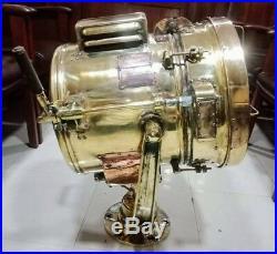 Vintage nautical marine brass spot light weight 36kg