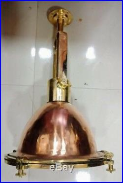 Vintage nautical marine copper and brass hanging spot light SL2