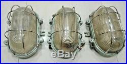 Vintage nautical marine ship Aluminum deck light set of 3 pieces