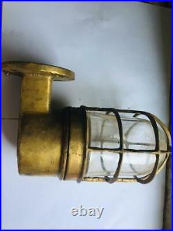 Vintage nautical marine ship brass wall passageway light lot of 10 pieces