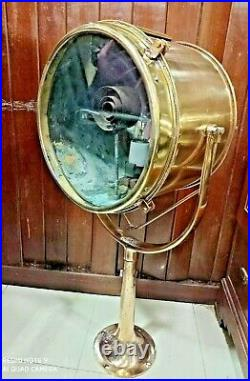 Vintage nautical marine ship old brass fox light with old brass stand 20 kg