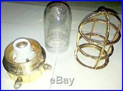 Vintage nautical marine ship passage way bulkhead light made of brass 2 piece