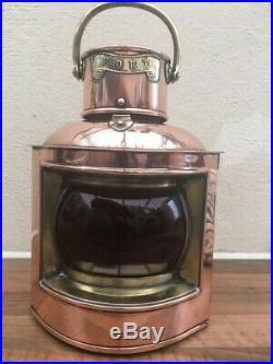 Vintage ships light. Port lamp lantern copper / brass boat yacht marine nautical