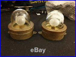 Vintage small Nautical Passageway Lights, Marine Ship Lamps 12v