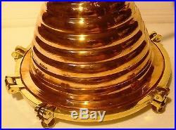 Vintage style Marine DECK Light / Lamp BIG ONE Brass Best Collection
