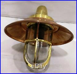 Vintage style new marine brass & copper ship passage nautical light 2 piece