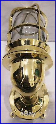 Vintage style new marine brass ship nautical bulkhead passage way light 4 piece