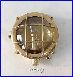 Vintage style new marine brass ship nautical turtle style passage light 2 piece