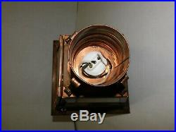 Vtg 1950's NOS Norwell Copper Post Outdoor Light Brass Eagle Maritime Cottage