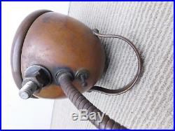 Vtg Antique Brass Nautical Boat Ship Rat Rod Car Spot Light Steampunk Industrial