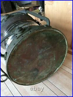Vtg. Antique Hop Lee & Co. Nautical ship boat copper Lantern oil Light Lamp