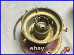 Vtg Brass Cast Iron Anchor Nautical Ceiling Porch Light Fixture Old 377-19E