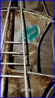 Vtg Italian Florentine Tole Metal Dble Wall Sconces Light Schooner ship nautical