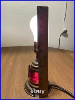 Vtg PERKO Brass Port & Starboard Ship Light Table Lamp Marine Boat Nautical