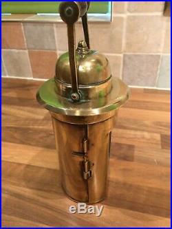 WW2 Brass Ships Bocock Binnacle Oil Lamp Vintage Light Nautical Maritime Marine
